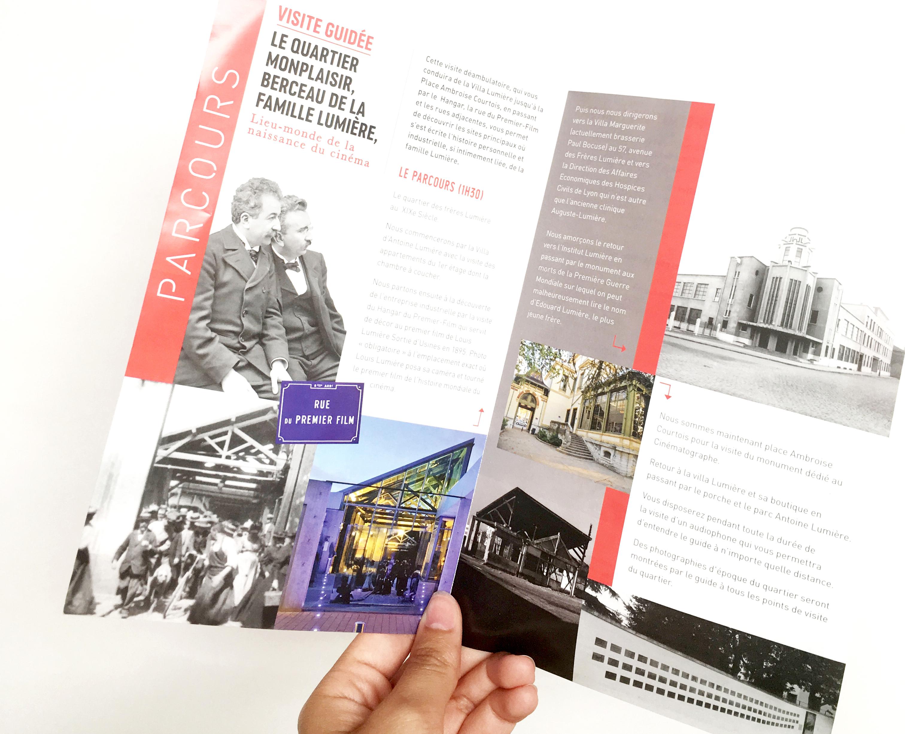 brochure, exposition, frères lumière, cinéma, art,