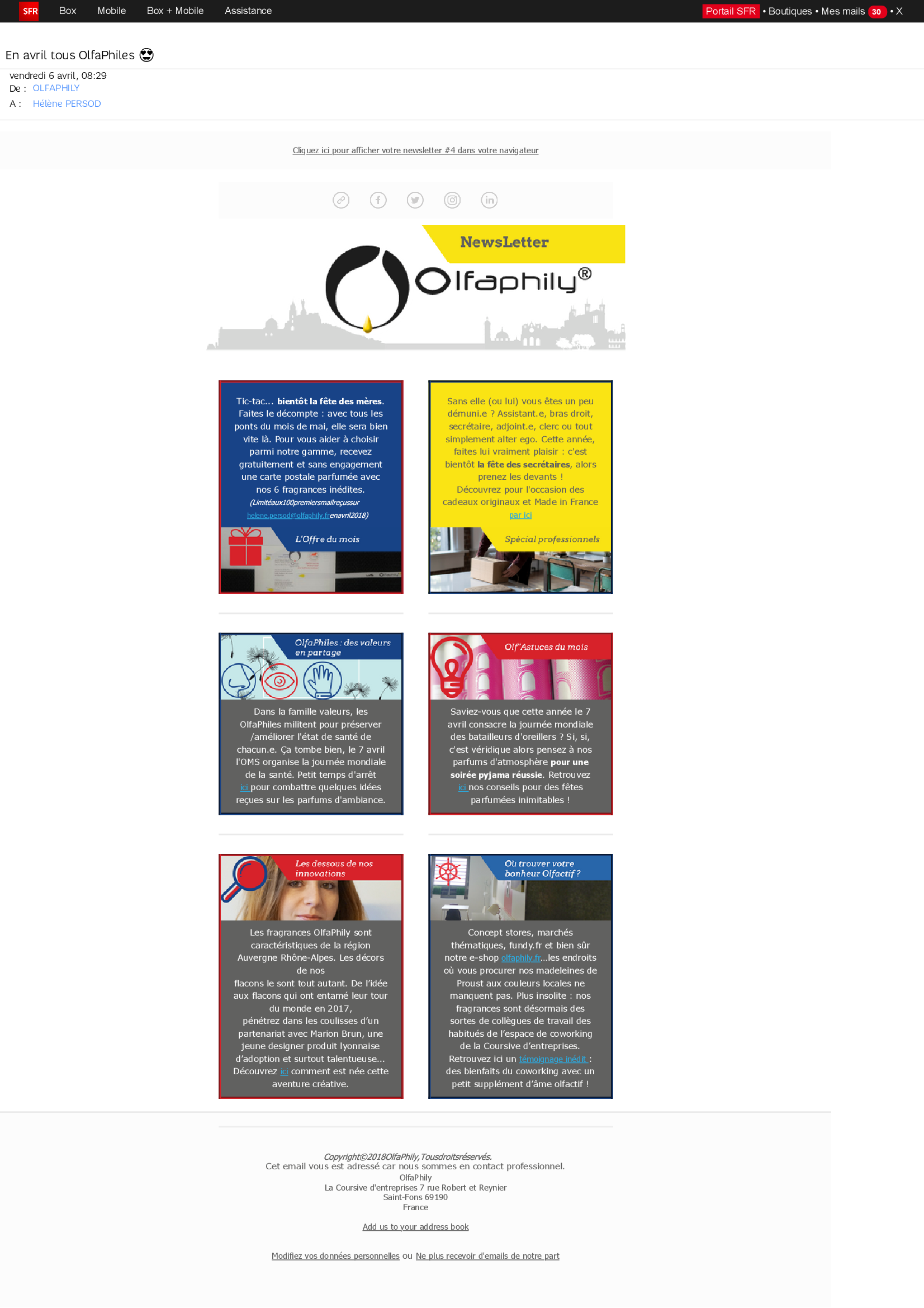 Newsletter olfactive Olfaphily _4