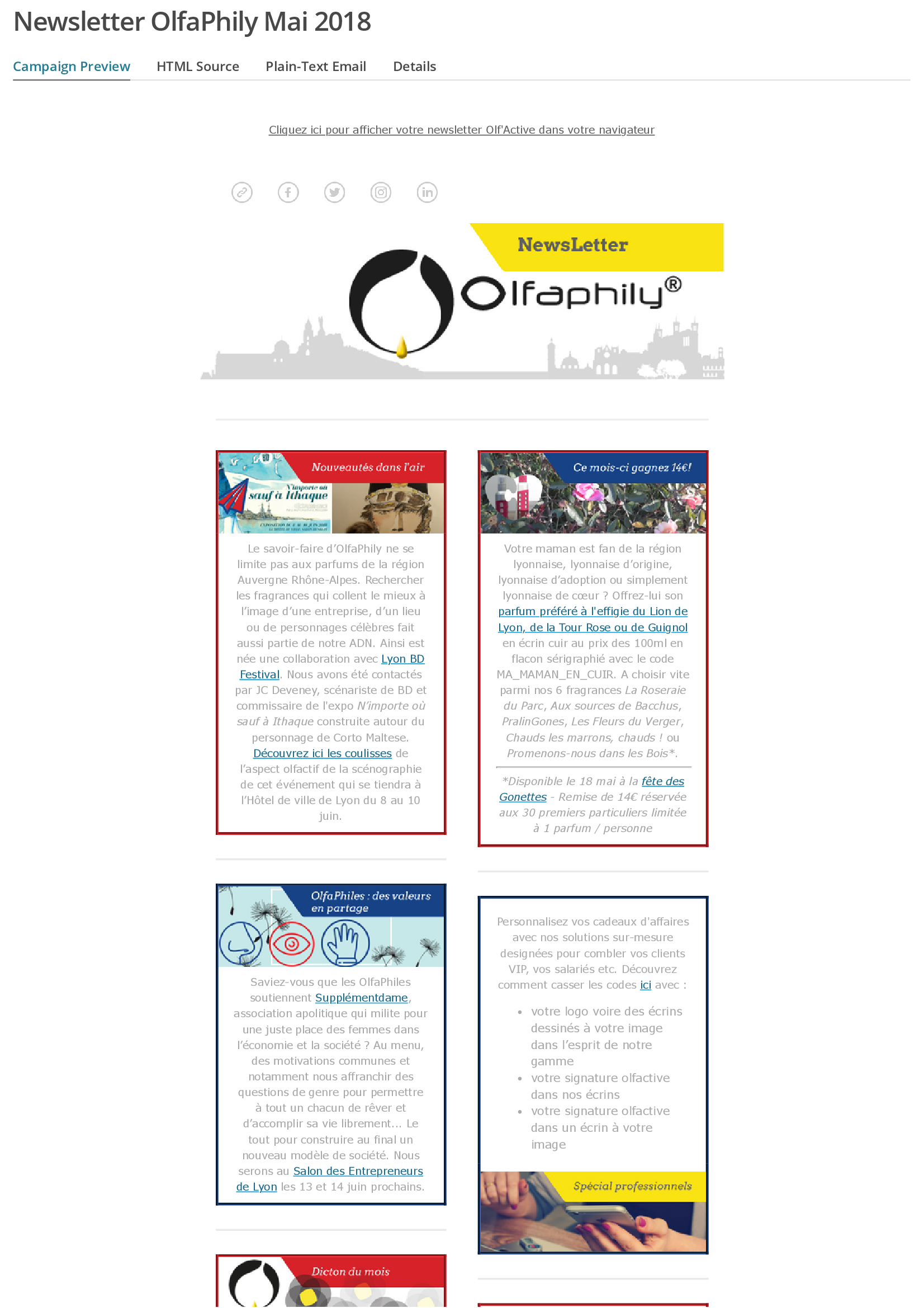 Newsletter olfactive Olfaphily_5 page1